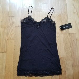 Brittany Black Lace Camisole Top